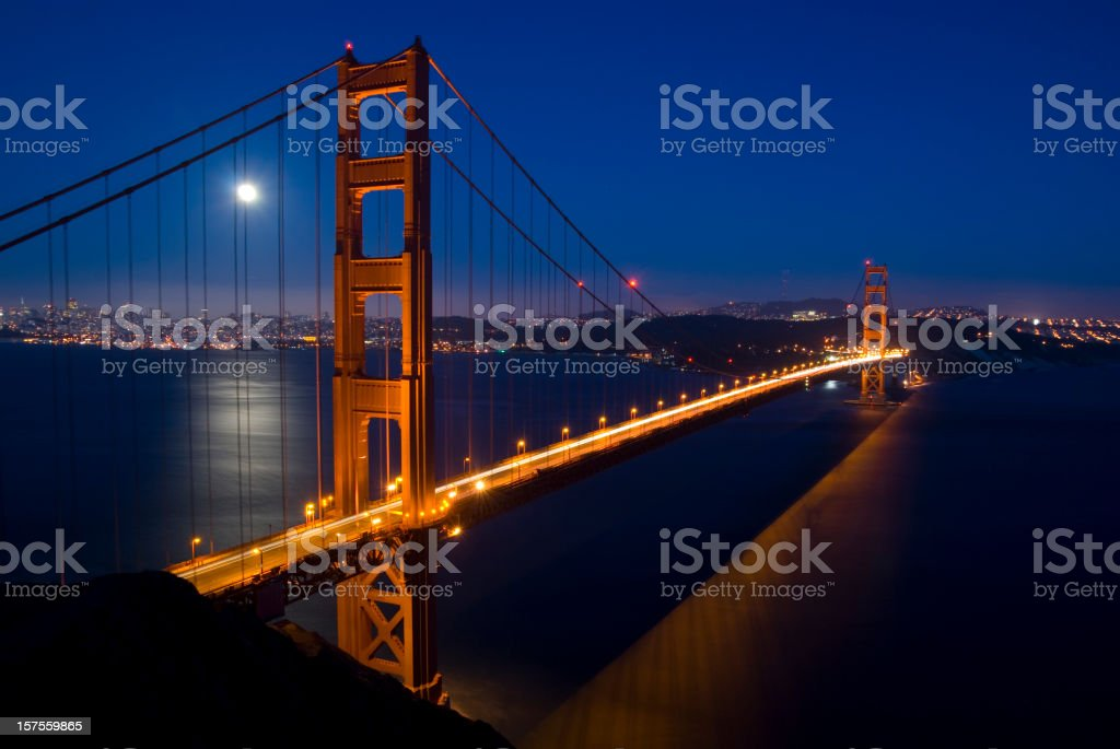 Golden Gate Bridge at Dusk royalty-free stock photo