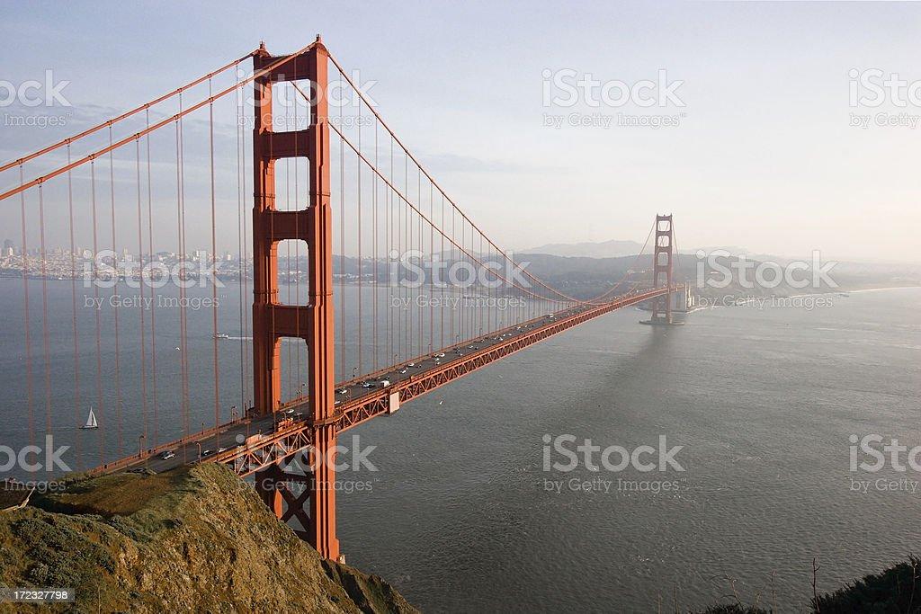 Golden Gate Bridge at Dusk royalty-free stock photo
