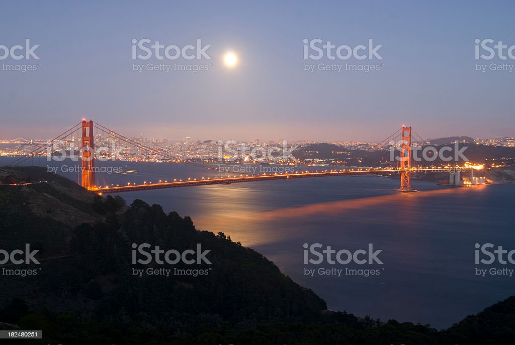 Golden Gate Bridge at Dusk stock photo