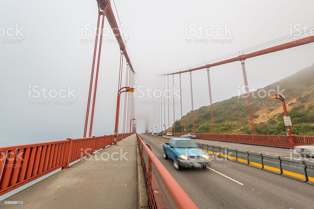 Golden Gate Bridge at San Francisco stock photo