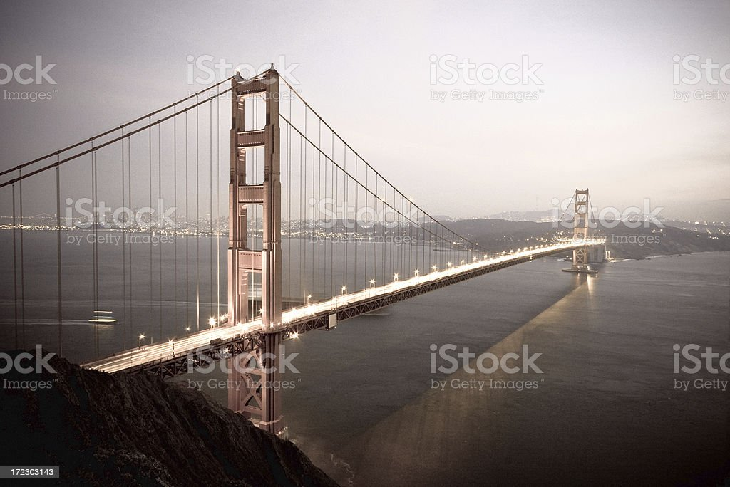 Golden Gate Bridge at Sunset royalty-free stock photo