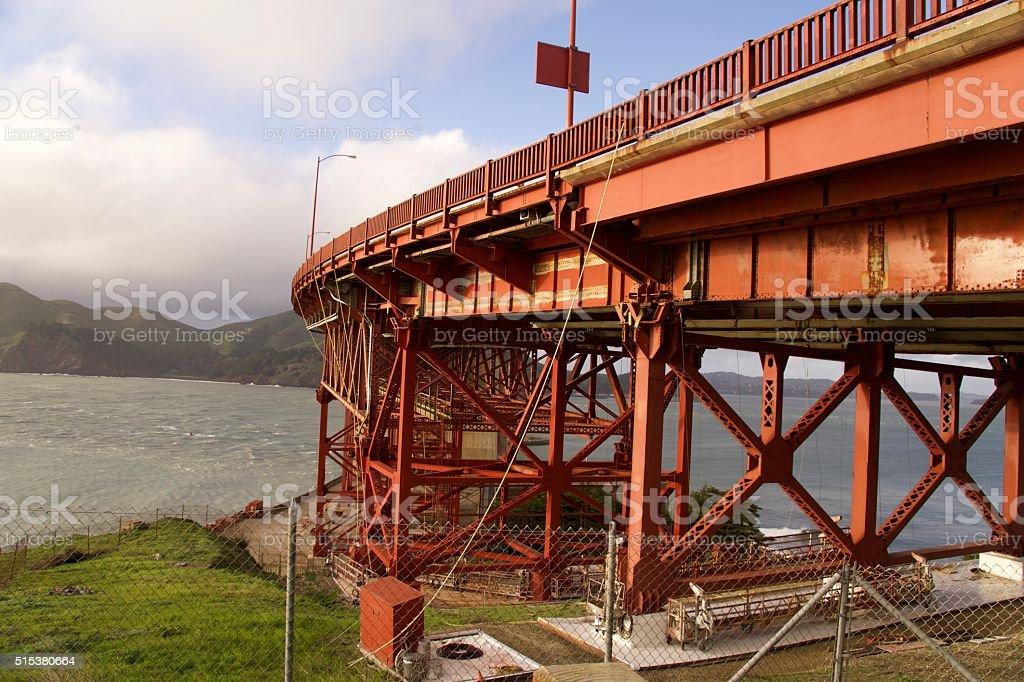 Golden Gate Bridge Base stock photo