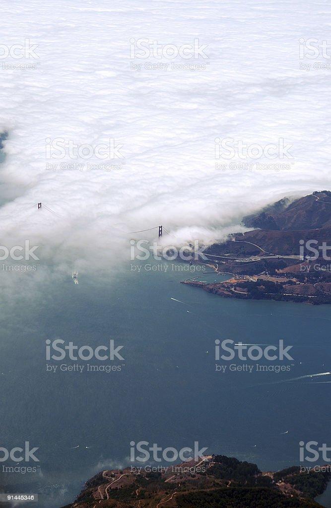 Golden Gate Bridge Birdview royalty-free stock photo