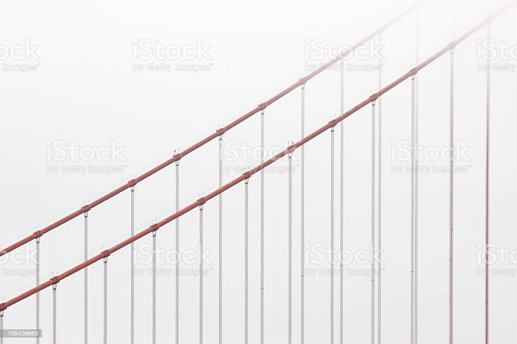 Golden Gate Bridge Cable Fog stock photo