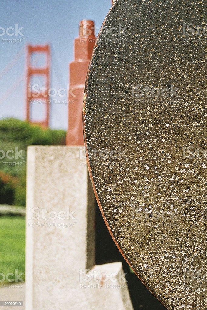 Golden Gate Bridge Cable royalty-free stock photo