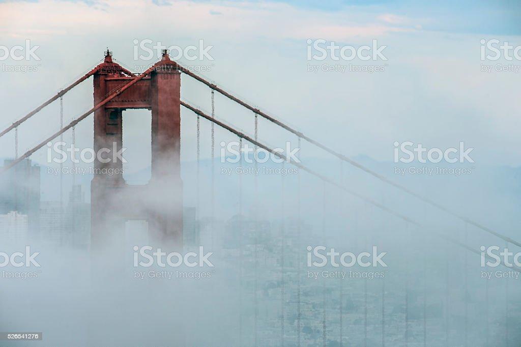 Golden Gate Bridge Detail stock photo