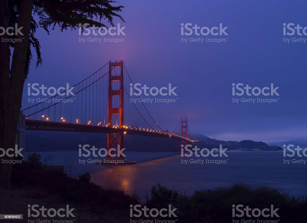 Golden Gate Bridge Dusk 1 royalty-free stock photo