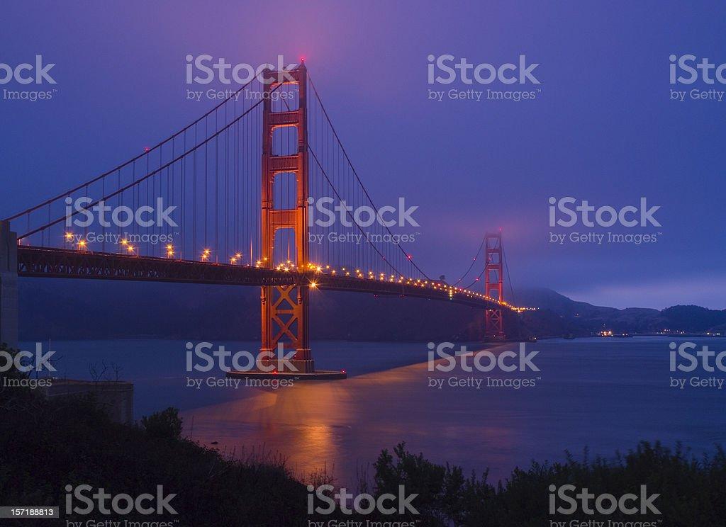 Golden Gate Bridge Dusk 2 royalty-free stock photo