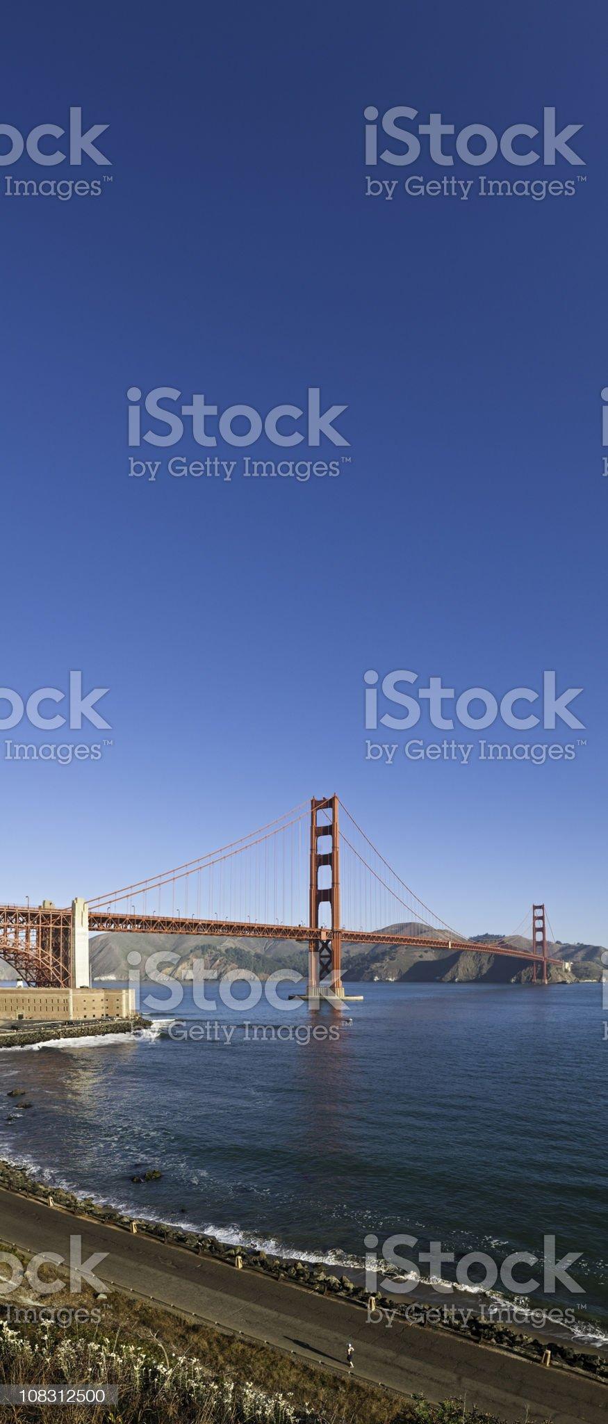 Golden Gate Bridge Fort Point San Francisco Marin vertical panorama royalty-free stock photo