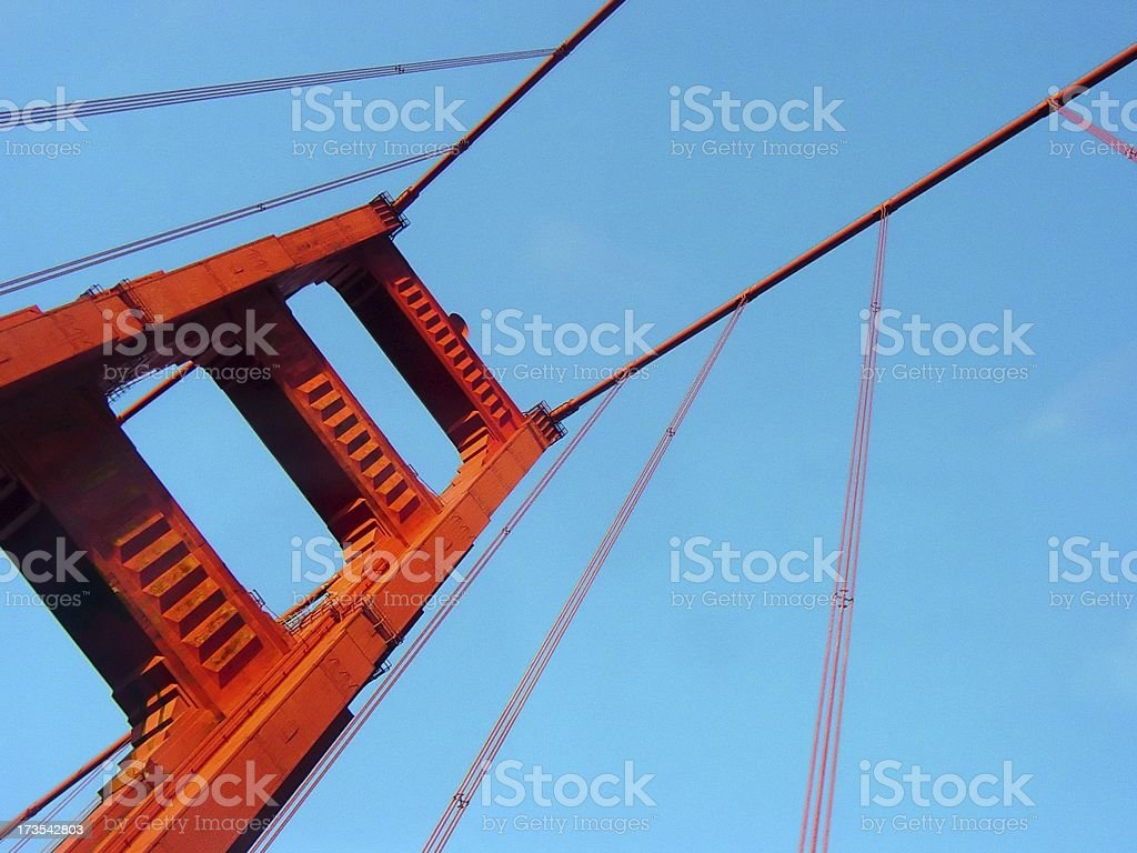 Golden Gate Bridge from Below royalty-free stock photo