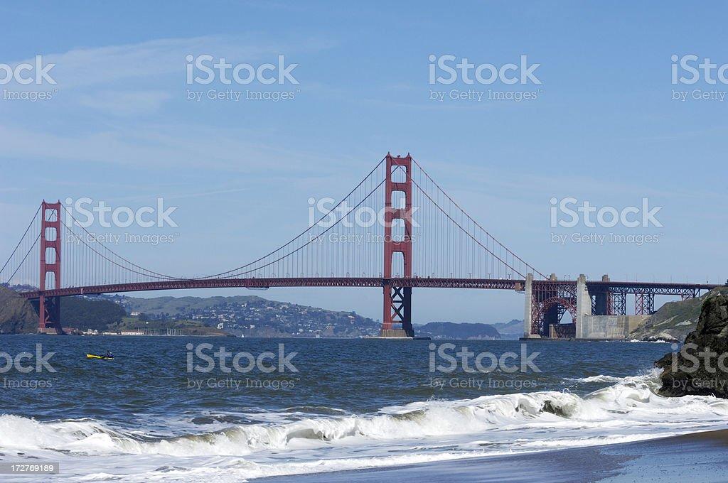 Golden Gate Bridge from China Beach royalty-free stock photo
