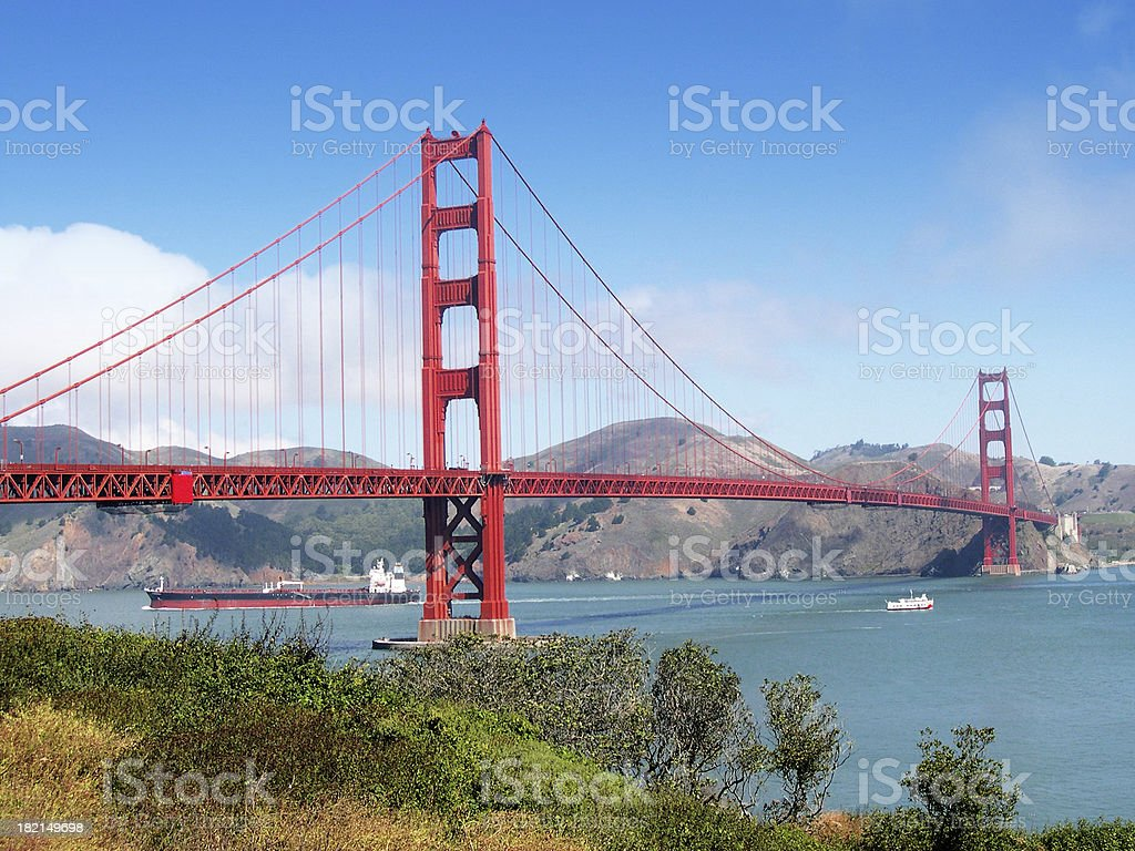 Golden Gate Bridge from Fort Point royalty-free stock photo