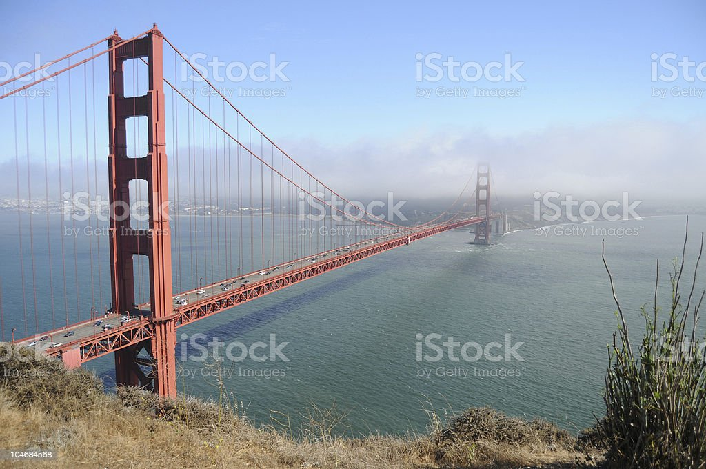 Golden Gate Bridge from Marin County royalty-free stock photo
