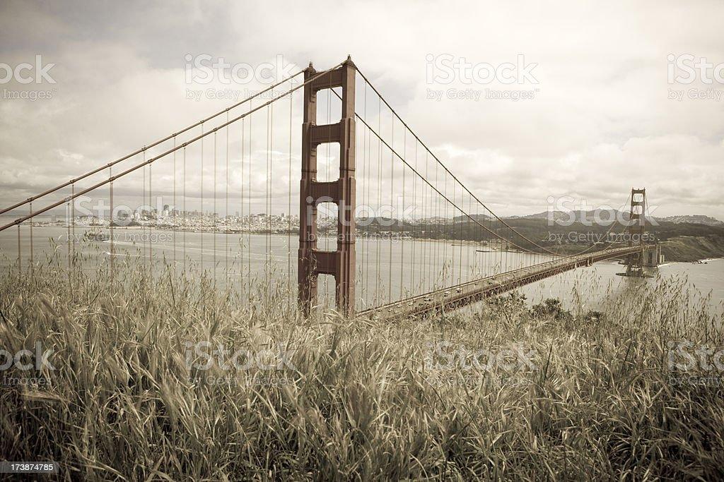 Golden Gate Bridge from Marin Headlands royalty-free stock photo