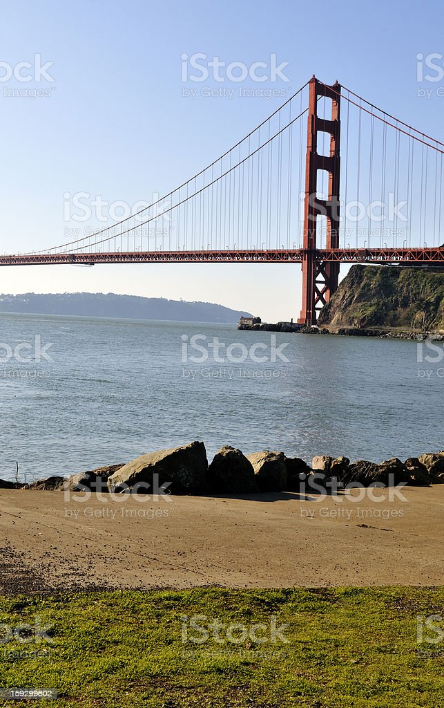 Golden Gate Bridge From Sausalito California royalty-free stock photo