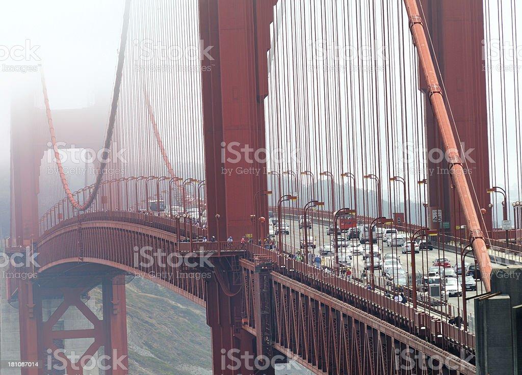 Golden Gate Bridge hidden in Fog royalty-free stock photo