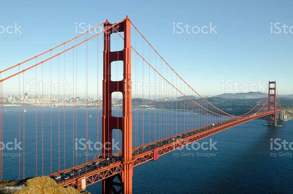 Golden Gate Bridge, iconic USA landmark in San Francisco, California royalty-free stock photo