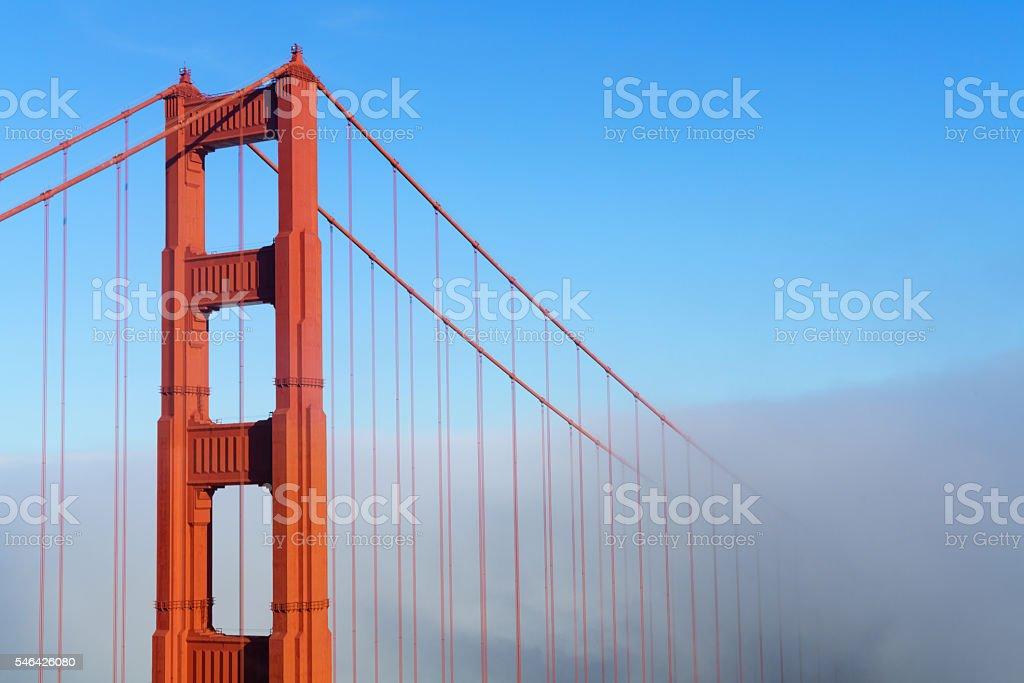 Golden Gate Bridge in Fog stock photo