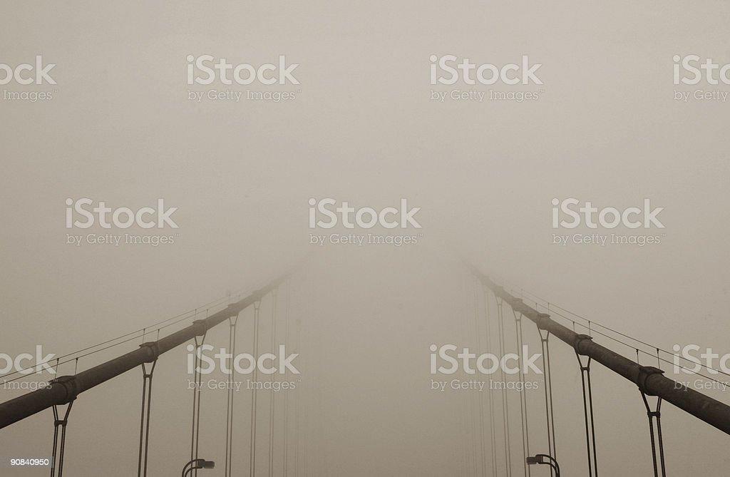 Golden Gate Bridge in Fog royalty-free stock photo