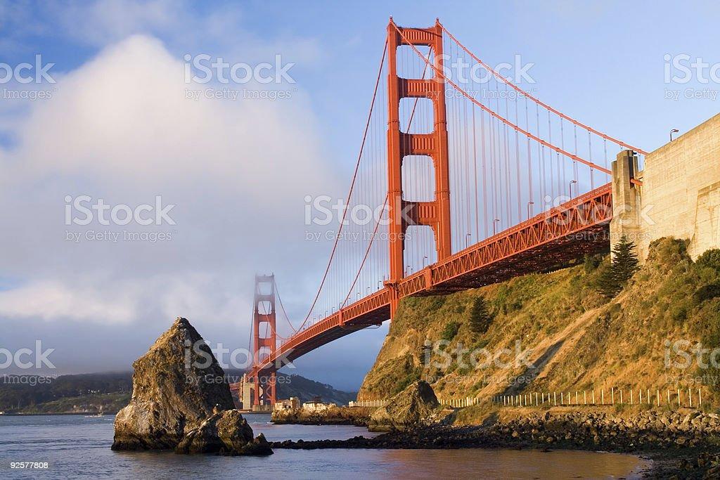 Golden Gate Bridge in Fog-Horizontal royalty-free stock photo