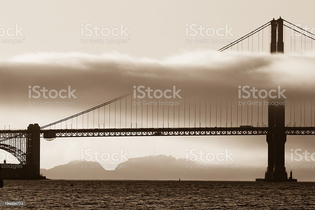 Golden Gate Bridge in San Francisco, California stock photo