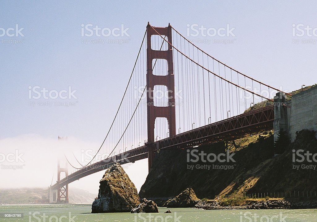 Golden Gate Bridge in San Francisco California royalty-free stock photo