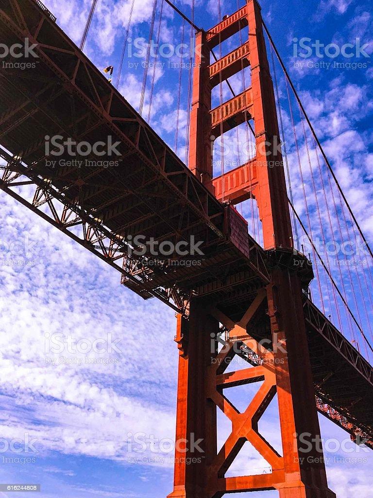 Golden Gate Bridge in San Francisco, Marin County California stock photo