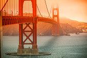 Golden Gate Bridge in San Francisco on a foggy day