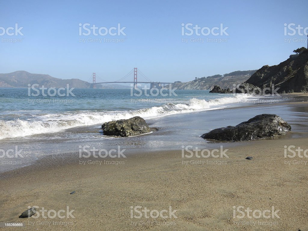 Golden Gate Bridge in San Francisco royalty-free stock photo