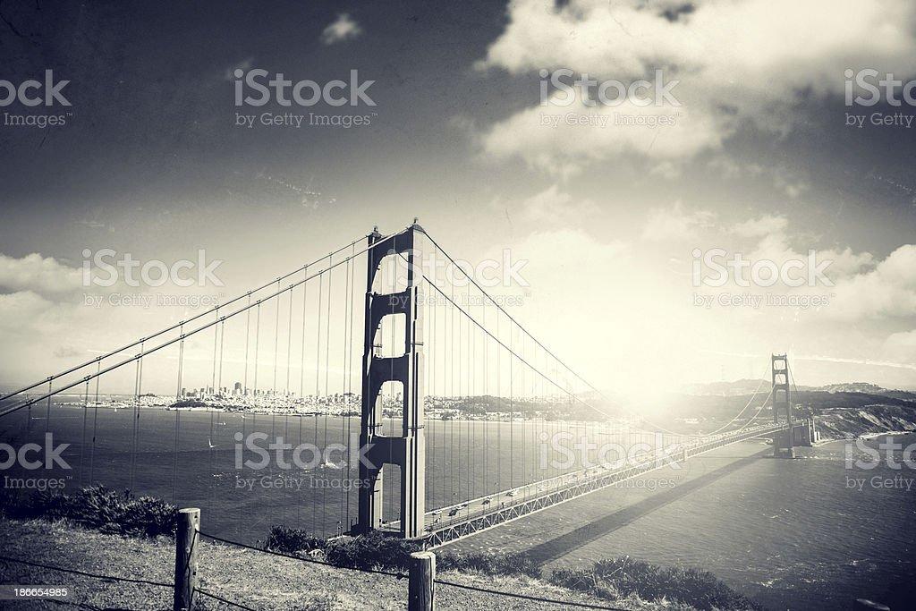 Golden Gate Bridge in San Francisco royalty-free stock photo