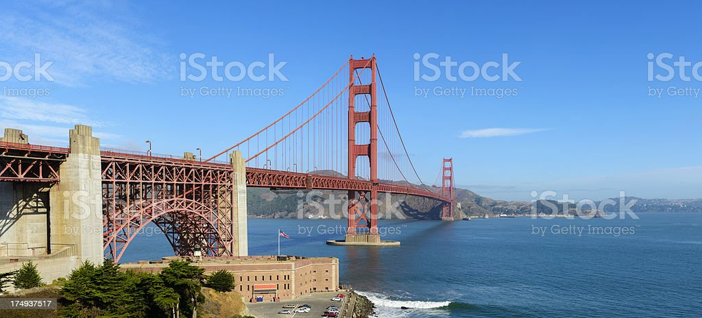 Golden Gate Bridge in San Francisco USA royalty-free stock photo