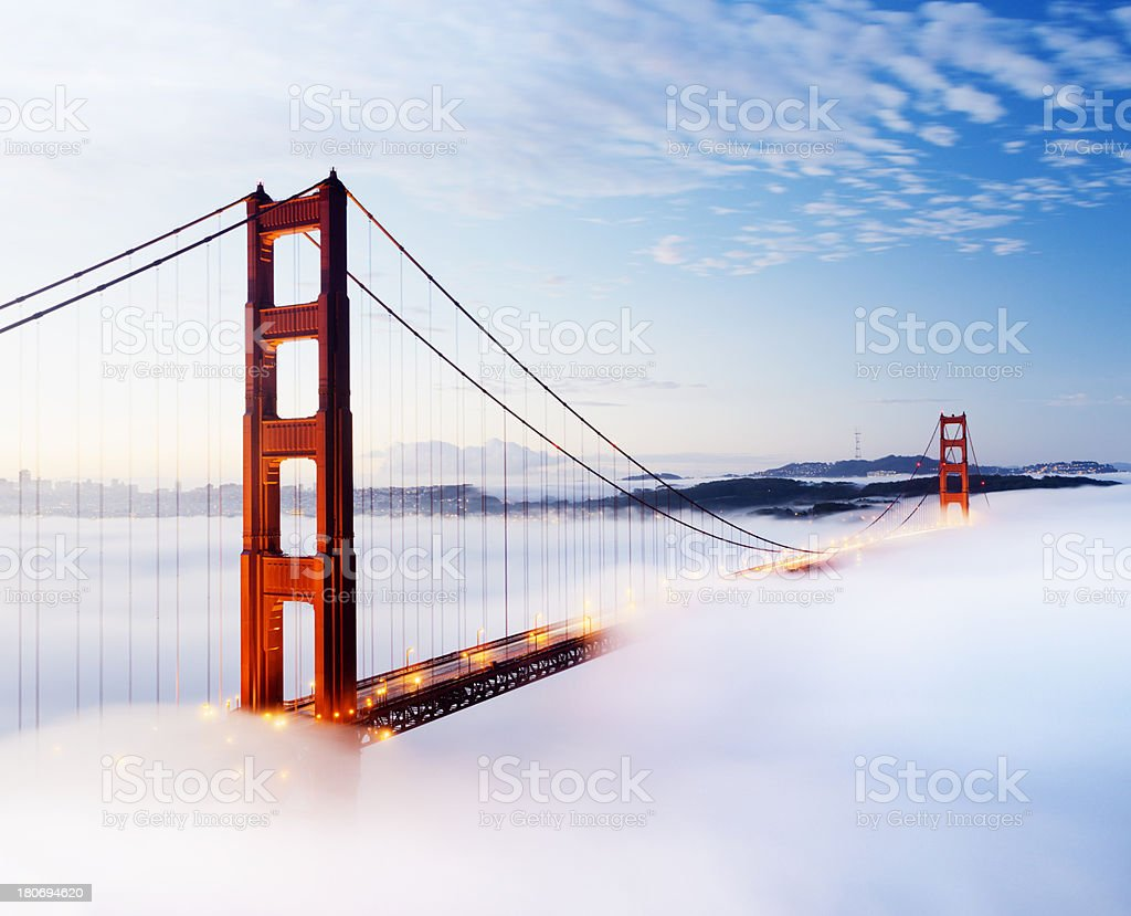 Golden Gate Bridge in San Francisco USA stock photo