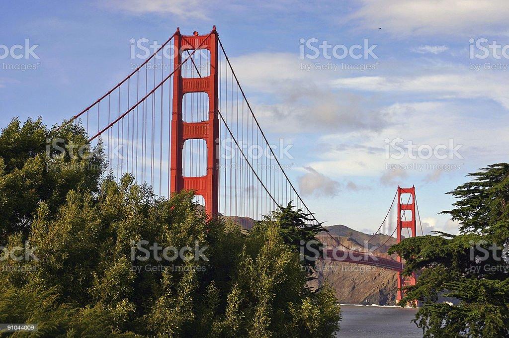 Golden Gate Bridge in summer time (San Francisco, USA) royalty-free stock photo