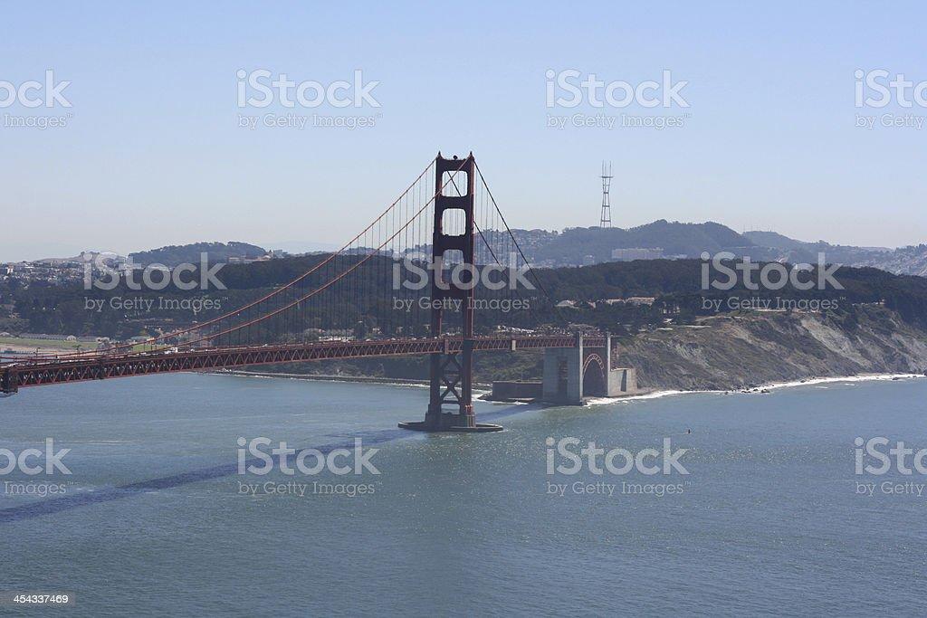 Golden gate bridge in the bay of san francisco, california royalty-free stock photo