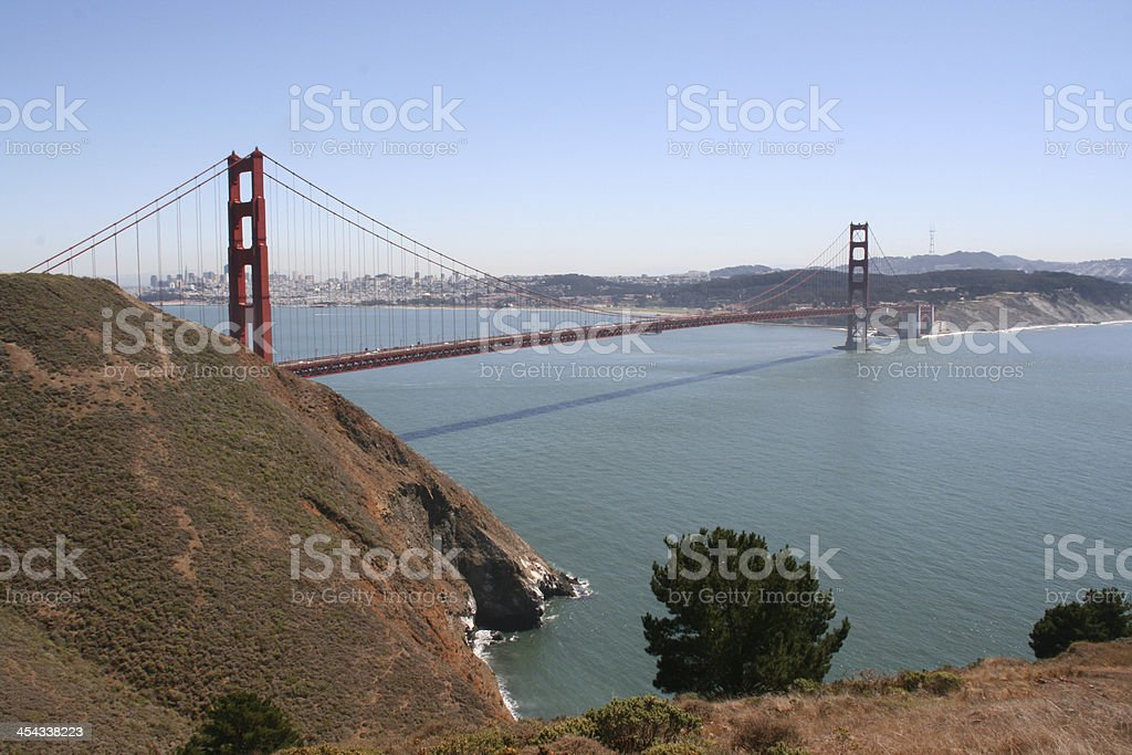 Golden gate bridge in the bay of san francisco, california royalty-free stock photo