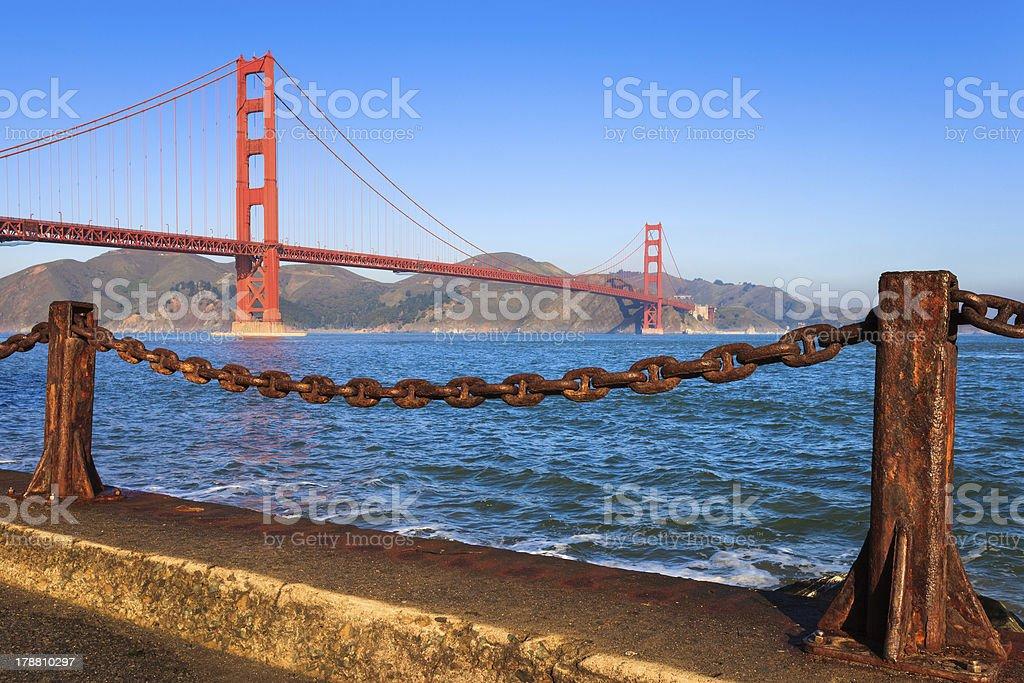 Golden Gate Bridge in the Morning royalty-free stock photo