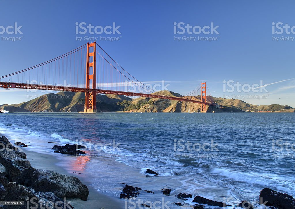 Golden Gate Bridge in the Winter Sun royalty-free stock photo