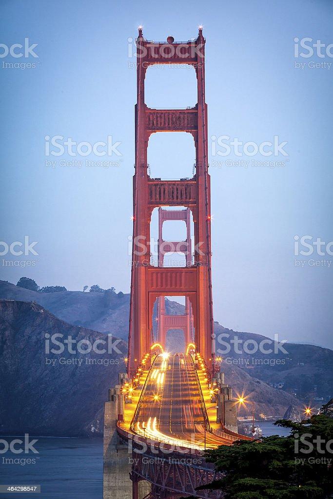 Golden Gate Bridge Looking North stock photo