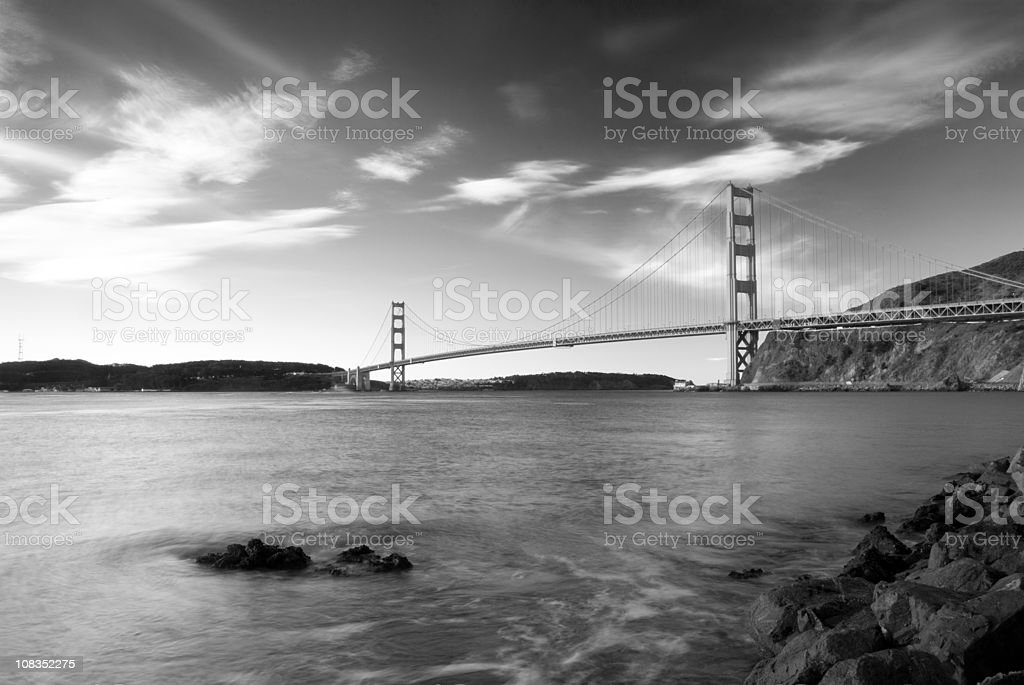 Golden Gate Bridge Monochrome stock photo