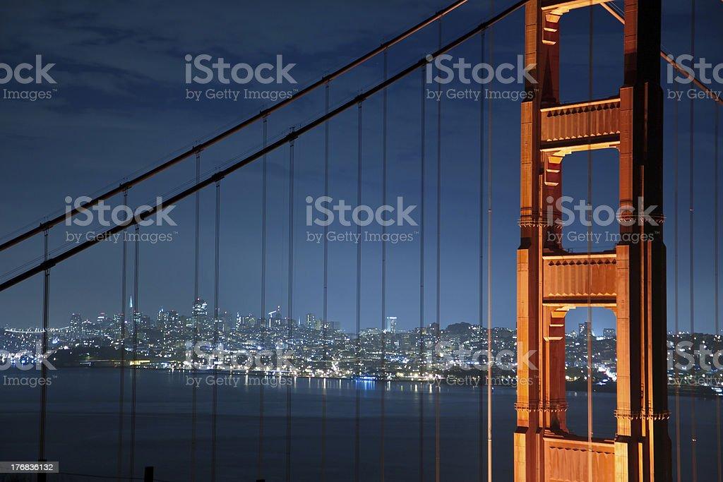 Golden Gate Bridge Nightshot stock photo