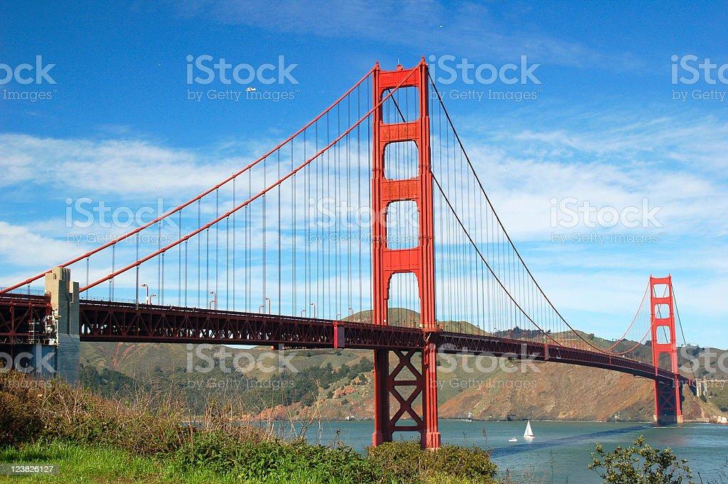 Golden Gate Bridge on a beautiful day royalty-free stock photo