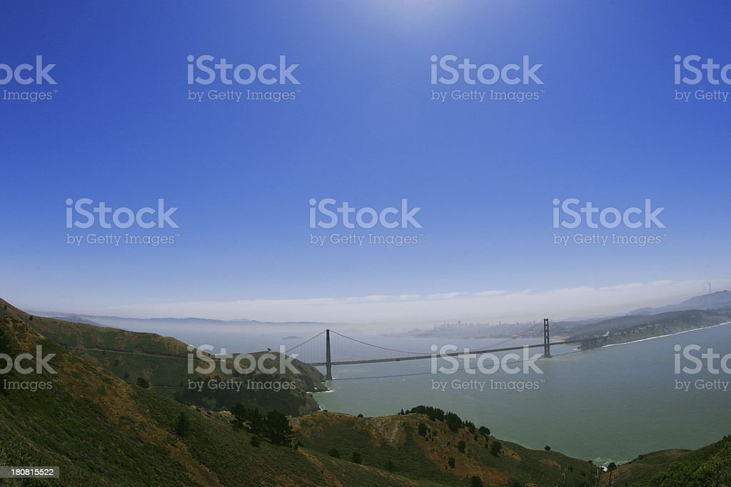Golden Gate Bridge on a Sunny Day royalty-free stock photo