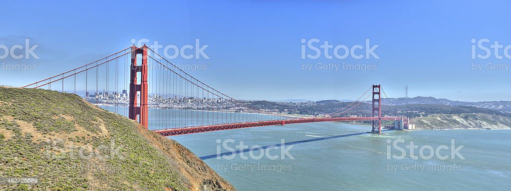 Golden Gate Bridge on Clear Day royalty-free stock photo