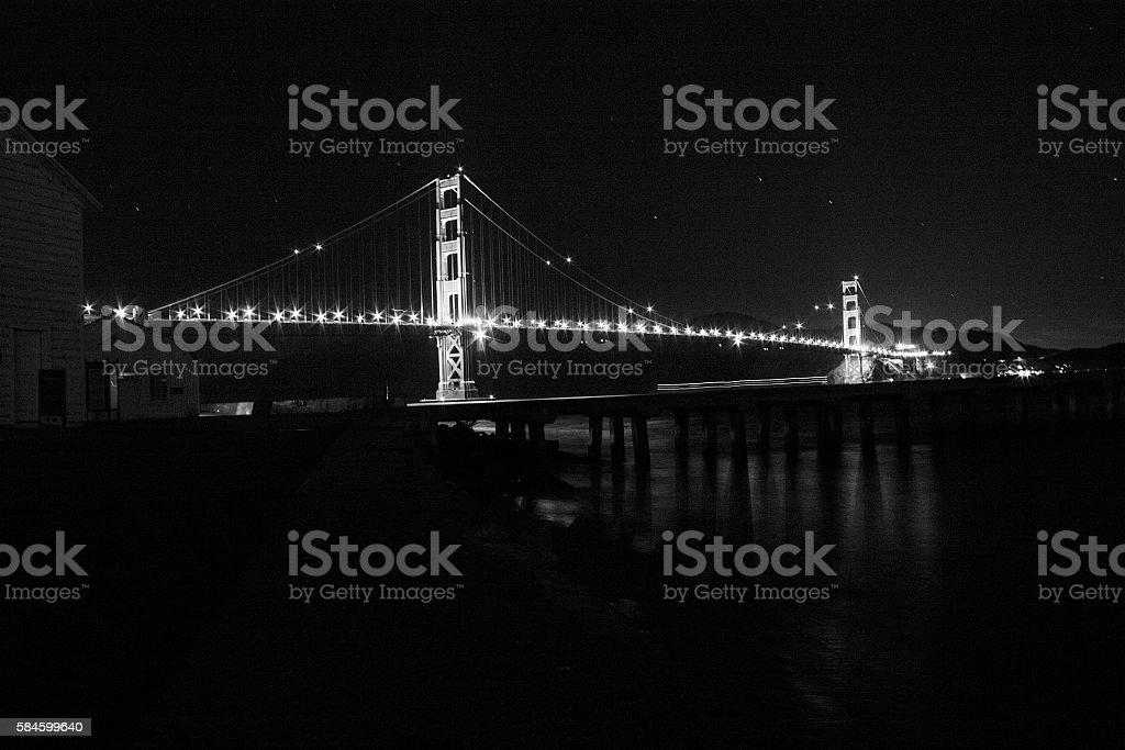 Golden Gate Bridge Over The Mist stock photo