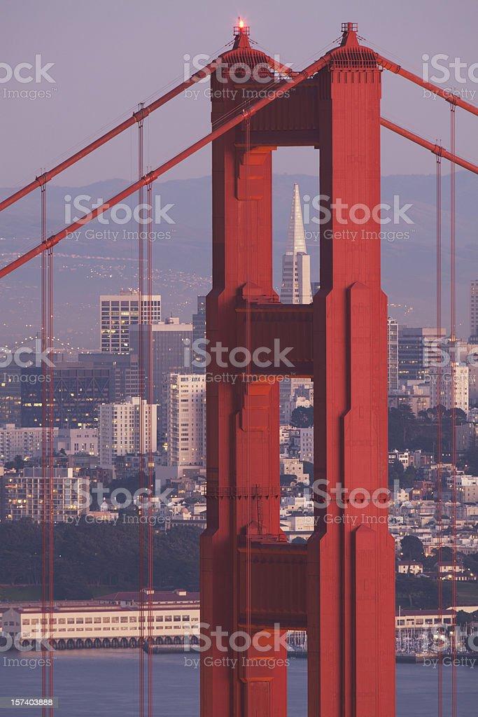 Golden Gate Bridge right after sunset (XXXL) royalty-free stock photo
