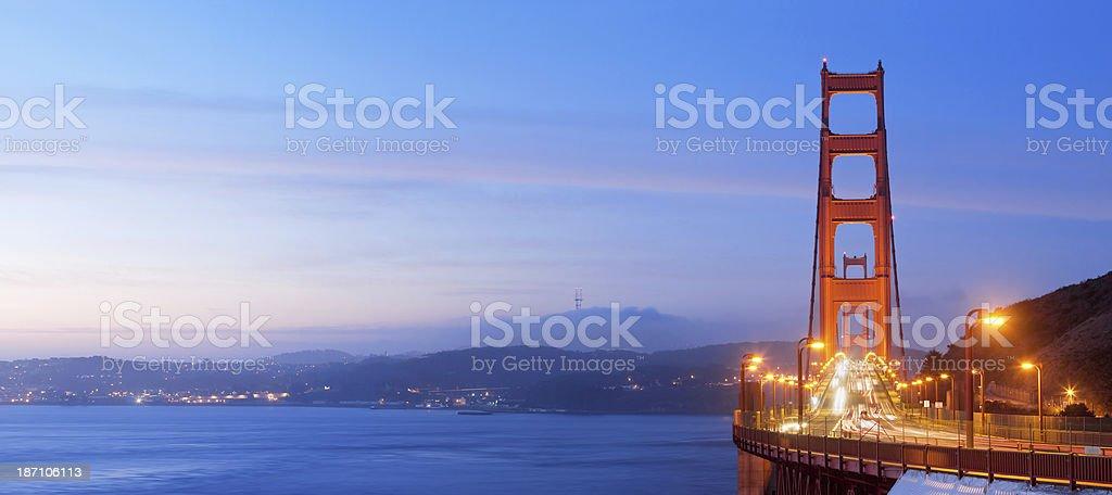 Golden Gate Bridge San Francisco at dawn stock photo
