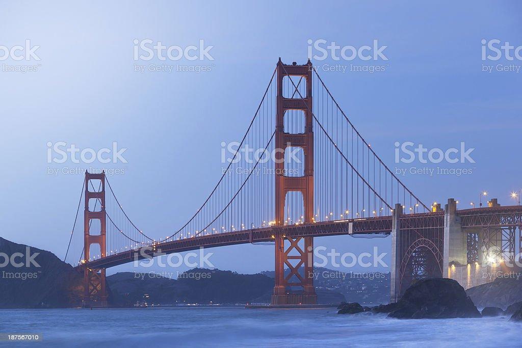 Golden Gate Bridge San Francisco at dawn royalty-free stock photo