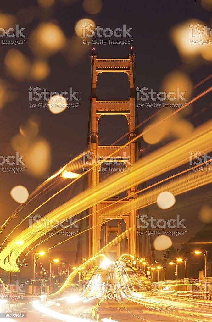 Golden Gate Bridge San Francisco at night royalty-free stock photo