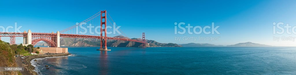Golden Gate Bridge San Francisco Bay Fort Point Marin California stock photo