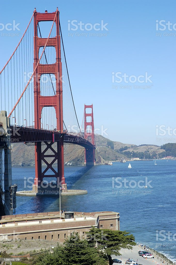 Golden Gate Bridge, San Francisco, California USA stock photo